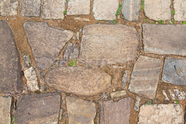 close up of paving stone outdoors Stock photo © dolgachov