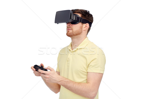 Сток-фото: человека · виртуальный · реальность · гарнитура · 3d · очки · 3D