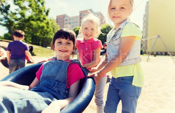 Feliz crianças crianças recreio verão infância Foto stock © dolgachov