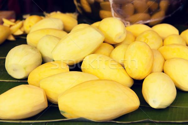 Stock fotó: Hámozott · mangó · utca · piac · főzés · ázsiai
