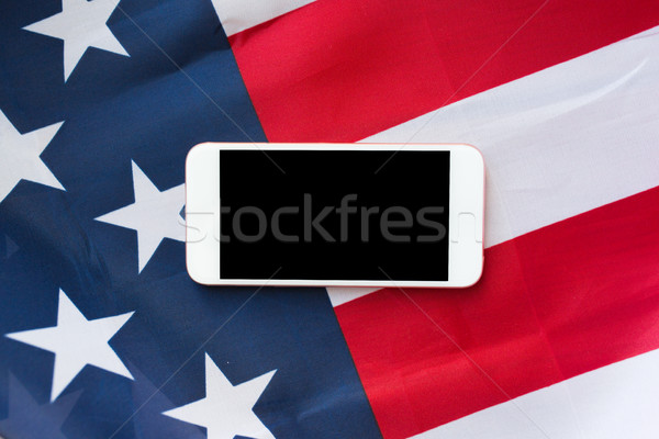 Bandeira americana tecnologia americano dia Foto stock © dolgachov