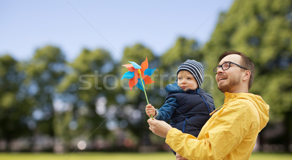 Feliz hijo de padre juguete aire libre familia infancia Foto stock © dolgachov