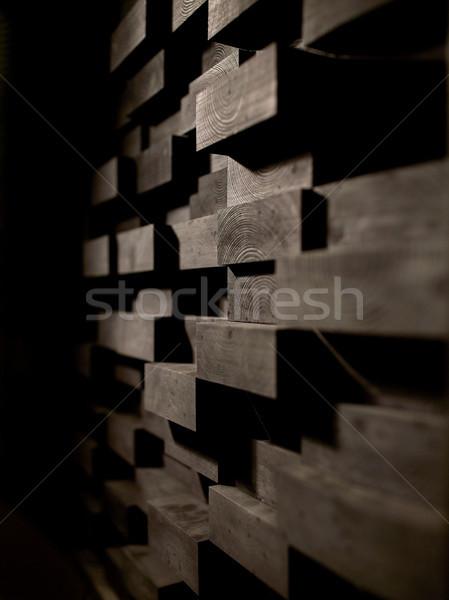 wooden wall decoration Stock photo © dolgachov
