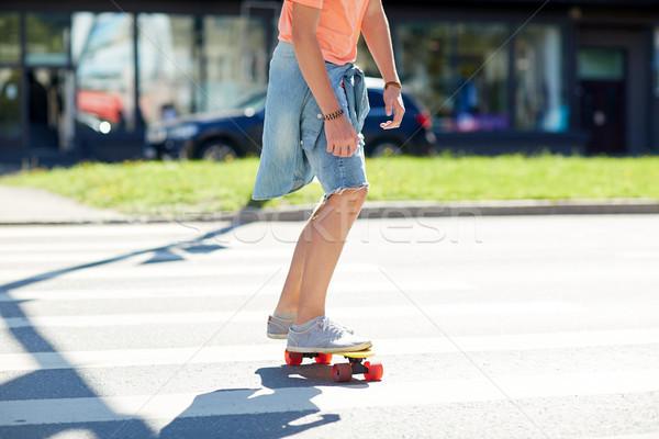 スケート 市 夏 トラフィック ストックフォト © dolgachov