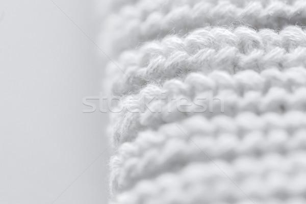 close up of knitted item Stock photo © dolgachov