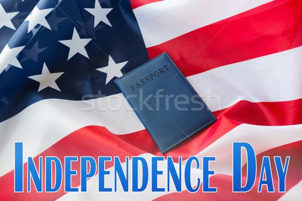 день слов американский флаг паспорта праздников фон Сток-фото © dolgachov