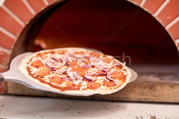 Pizza forno pizzaria comida italiano Foto stock © dolgachov