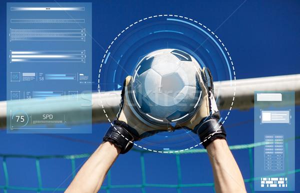 вратарь мяча футбола цель небе спорт Сток-фото © dolgachov