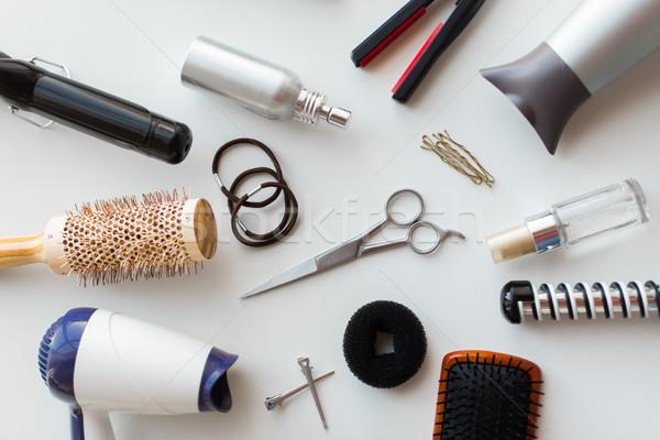 scissors, hairdryers, irons and brushes Stock photo © dolgachov
