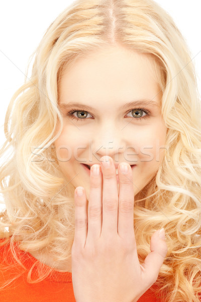 laughing woman Stock photo © dolgachov