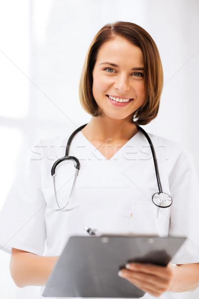 Lekarza stetoskop piśmie recepta opieki zdrowotnej medycznych Zdjęcia stock © dolgachov