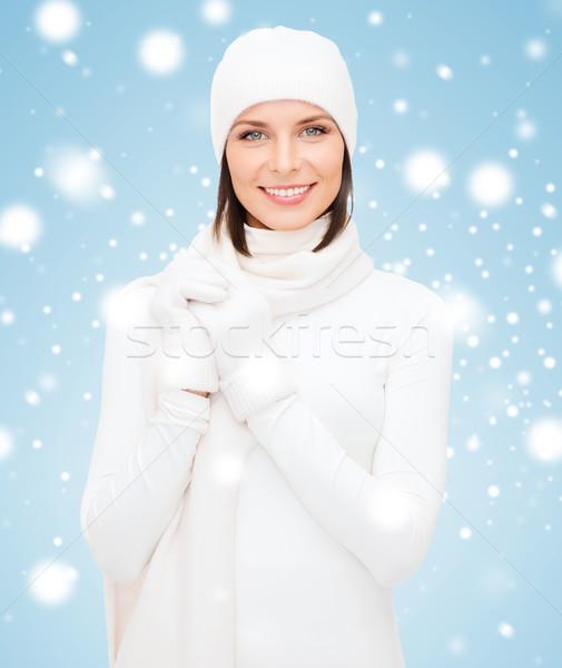 女性 帽子 マフラー 手袋 冬 人 ストックフォト © dolgachov