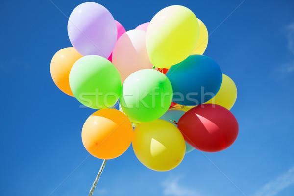 Colorido balões céu celebração sol aniversário Foto stock © dolgachov