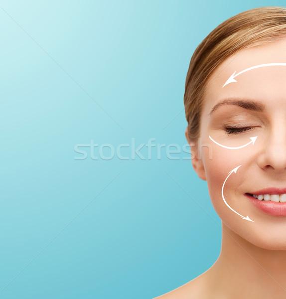 Сток-фото: лице · красивая · женщина · здоровья · красоту