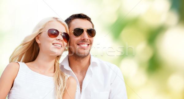 Boldog pár zöld nyár ünnepek emberek Stock fotó © dolgachov