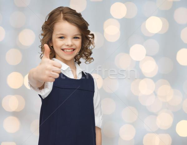 Szczęśliwy mały uczennica ludzi Zdjęcia stock © dolgachov
