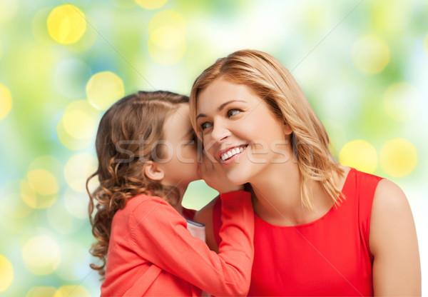 Mutlu kız dedikodu anne insanlar Stok fotoğraf © dolgachov