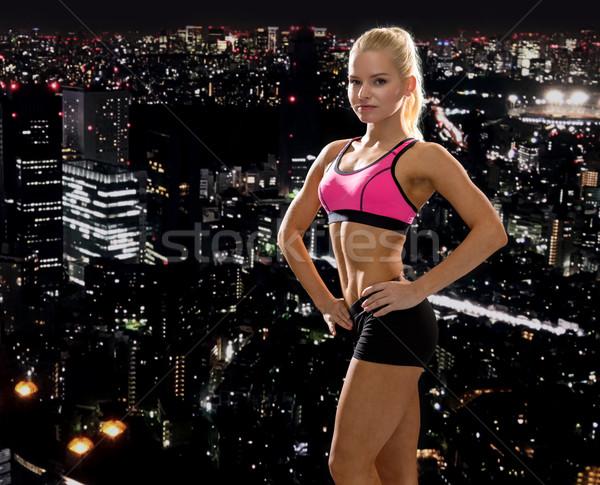 Schönen sportlich Frau Sportbekleidung Fitness Sport Stock foto © dolgachov