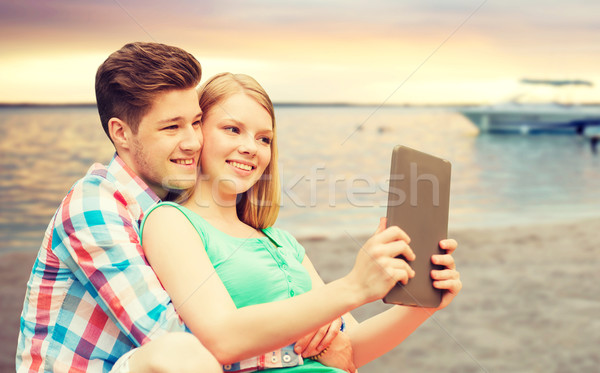 пару пляж отпуск праздников Сток-фото © dolgachov