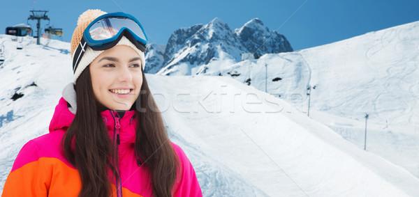 Feliz montanas invierno ocio Foto stock © dolgachov