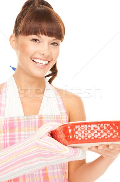 cooking housewife Stock photo © dolgachov