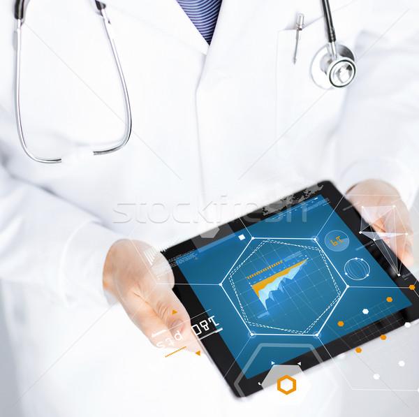 Médico estetoscopio medicina tecnología Foto stock © dolgachov