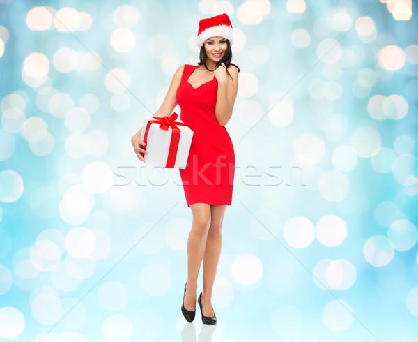красивой сексуальная женщина Hat шкатулке люди Сток-фото © dolgachov