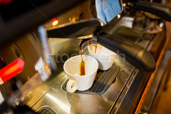 Café expresso máquina café equipamento Foto stock © dolgachov