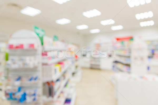 Pharmacie pharmacie chambre médecine floue Photo stock © dolgachov