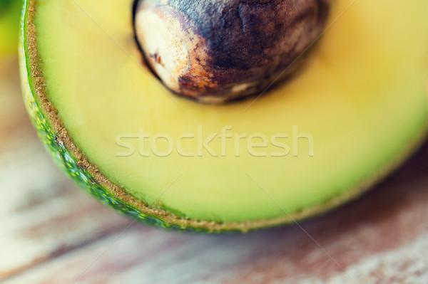 Közelkép érett avokádó csont asztal diéta Stock fotó © dolgachov