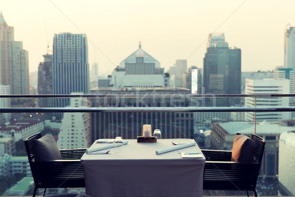 étterem társalgó hotel Bangkok város utazás Stock fotó © dolgachov