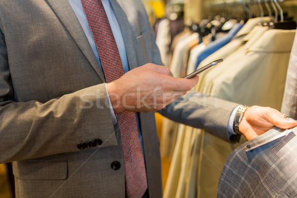 Adam giyim depolamak satış Stok fotoğraf © dolgachov