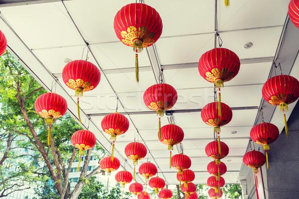 потолок украшенный подвесной китайский Азии Сток-фото © dolgachov
