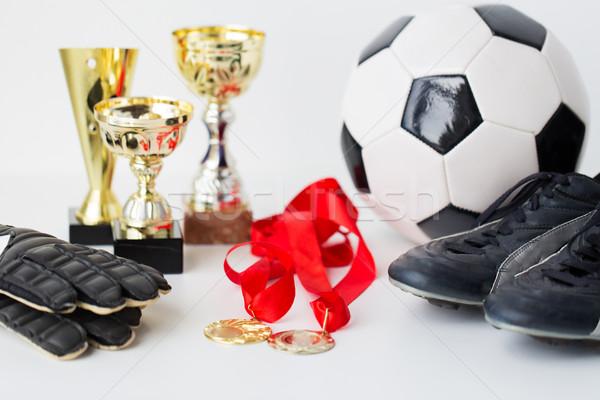 Calcio stivali guanti Cup medaglia Foto d'archivio © dolgachov