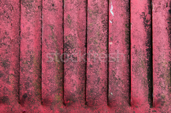 close up of old red rusty metal flaps Stock photo © dolgachov