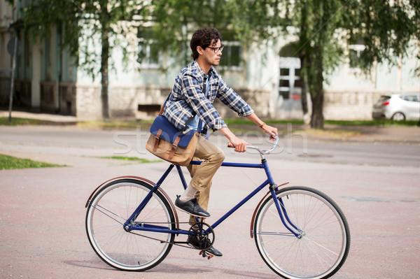 Сток-фото: молодые · человека · сумку · верховая · езда · зафиксировано