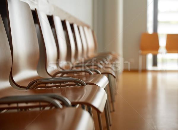 Foto stock: Sillas · hospital · sala · de · espera · muebles · público