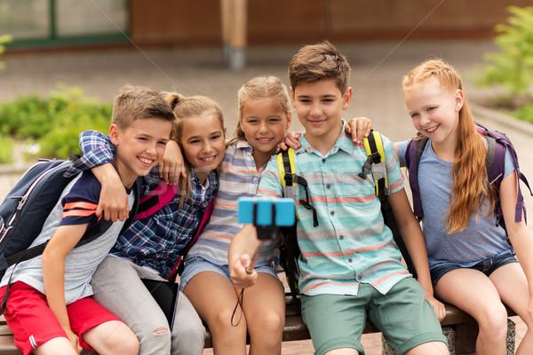 Feliz escuela primaria estudiantes toma primario educación Foto stock © dolgachov