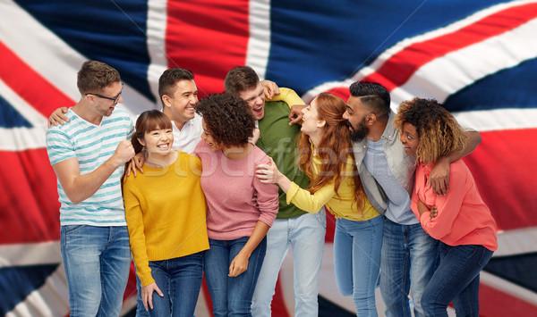 Nemzetközi csoport boldog nevet emberek diverzitás Stock fotó © dolgachov