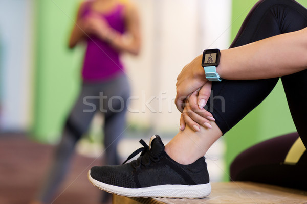 женщину частота сердечных сокращений спортзал спорт фитнес Сток-фото © dolgachov