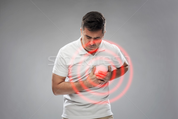 несчастный человека страдание сердце боль люди Сток-фото © dolgachov