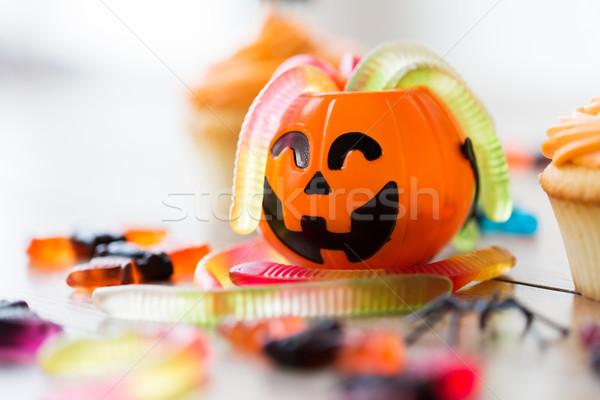 Halloween party confetteria concetto Foto d'archivio © dolgachov