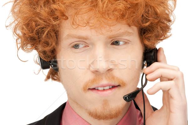 телефон доверия ярко фотография дружественный мужчины оператор Сток-фото © dolgachov