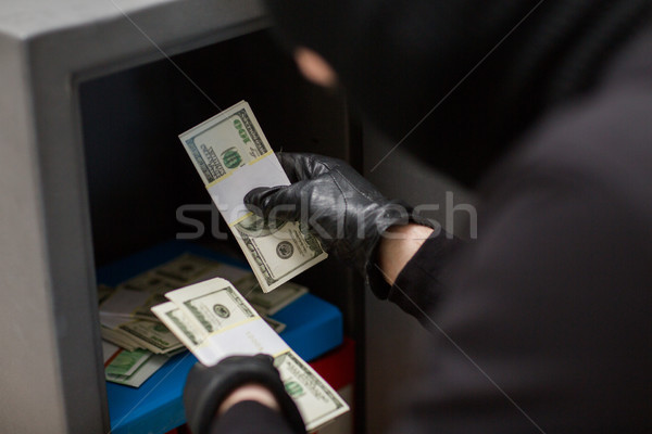 Dief geld veilig delict diefstal Stockfoto © dolgachov