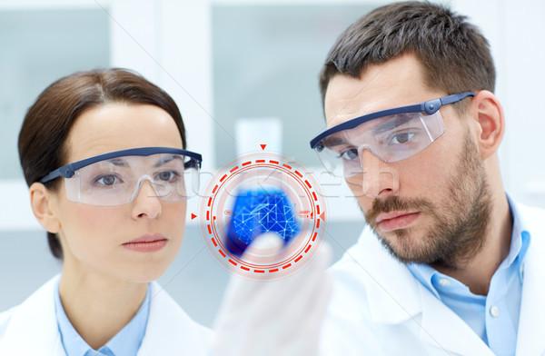 Jovem cientistas corpo pesquisa lab Foto stock © dolgachov