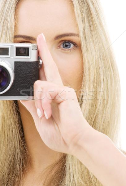 camera girl Stock photo © dolgachov