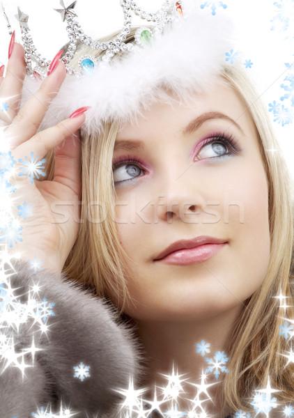 winter queen Stock photo © dolgachov