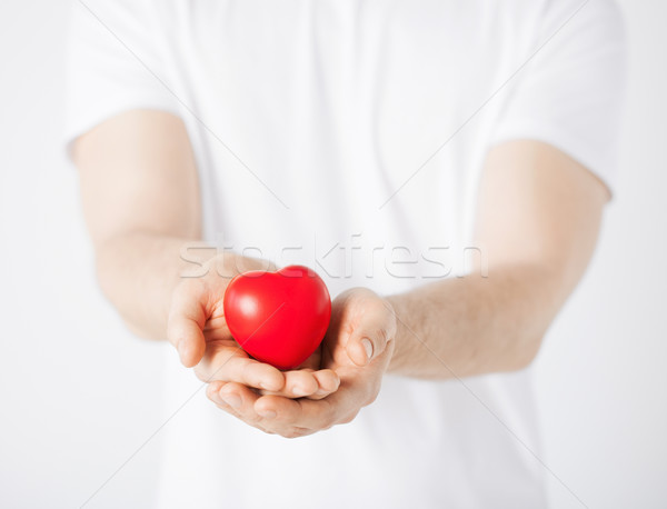 man hands with heart Stock photo © dolgachov