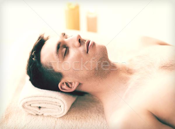man in spa Stock photo © dolgachov