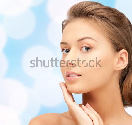 beautiful young woman face Stock photo © dolgachov